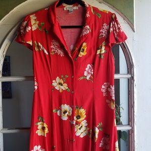 Button front dress